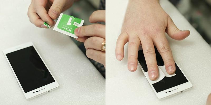 Наклеить защитное стекло на смартфон в домашних условиях 597